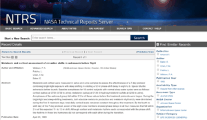 Salivary Melatonin Testing NASA